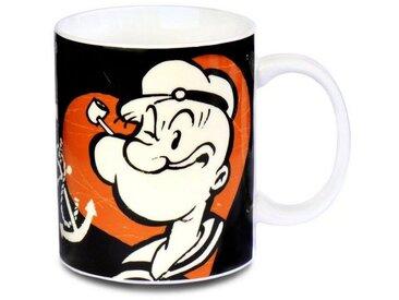 LOGOSHIRT Tasse mit Qualitätsdruck »Popeye der Seemann St. Pauli«, schwarz, schwarz