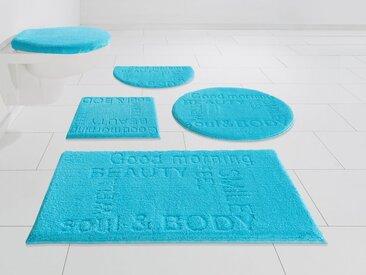 GRUND exklusiv Badematte »Feel Well« , Höhe 22 mm, rutschhemmend beschichtet, fußbodenheizungsgeeignet, blau, blau