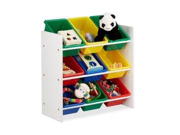 relaxdays Standregal »Kinderregal mit Regalboxen«, MDF Platten