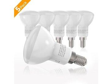 B.K.Licht LED-Leuchtmittel, E14, 5 Stück, Warmweiß, LED-Lampe Glühbirne 6 Watt 450 Lumen 2.700 Kelvin Energiesparlampe