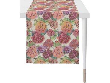 APELT Tischläufer »1553 Summergarden« (1-tlg), Gobelingewebe, bunt, orange-rosa