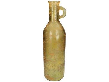 Engelnburg Dekovase » Recycelte Vase Blumenvase Glas Bernstei«