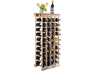 COSTWAY Weinregal »Flaschenregal Weinschrank Weinflaschenhalter«, aus Holz, für 44 Flaschen, natur, Kieferholz, Natur