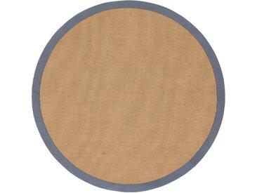 carpetfine Sisalteppich »Sisal«, rund, Höhe 5 mm, grau, grau