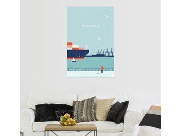 Posterlounge Wandbild, Hamburg Illustration, Premium-Poster