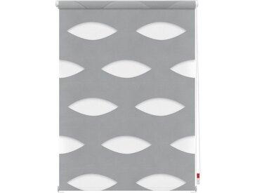 LICHTBLICK Doppelrollo »Duo Rollo Klemmfix Ellipse«, Lichtschutz, ohne Bohren, im Fixmaß, grau, grau