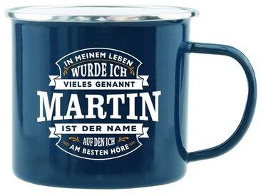 HTI-Living Becher »Echter Kerl Emaille Becher Martin«