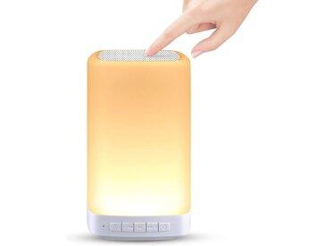 kueatily LED Schreibtischlampe »LED-Nachttischlampe, Touch-dimmbar, LED-Nachtlicht mit 3 warmen Lichteffekten, Dimmmodi und 7 Farben zum Umschalten, USB wiederaufladbar, tragbare Nachtlampe