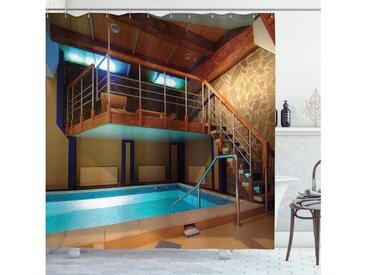Abakuhaus Duschvorhang »Moderner Digitaldruck mit 12 Haken auf Stoff Wasser Resistent« Breite 175 cm, Höhe 180 cm, holdiay Pool Fotografie