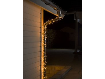 KONSTSMIDE Micro LED Lichterkette, schwarz, 500 LEDs, Lichtquelle bernsteinfarben, Schwarz