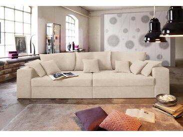 Nova Via Big-Sofa, natur, mit Bettfunktion, natur