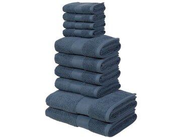 my home Handtuch Set »Ally« (Set, 10-tlg), in dezenten Unifarben, blau, rauchblau