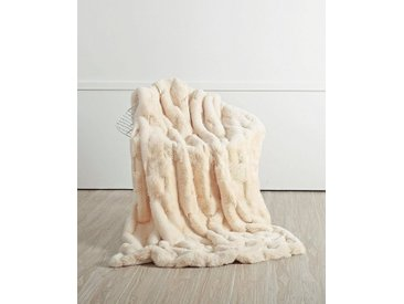 Star Home Textil Wohndecke »Merino«, aus besonders weichem Webpelz, weiß, creme