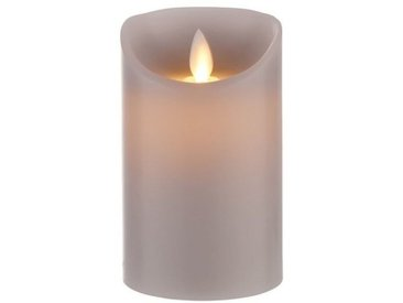 BUTLERS LED Dekolicht » GLOWING FLAME LED Kerze 12,5cm«, grau, Grau