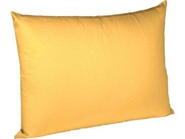 fleuresse Kissenbezüge »Colours Interlock Jersey«, (2 Stück), in bügelfreier Interlock Qualität, gelb, sonne