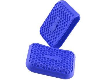 Kochblume Topfhandschuhe »Griffschutz«, (Set, 2-tlg), Hitzebeständig bis 230°, blau, dunkelblau