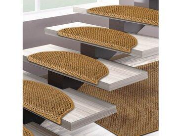 Floordirekt Stufenmatte »Tiger-Eye 1A«, Halbrund, Höhe 6,5 mm, Sisal, natur, Natur