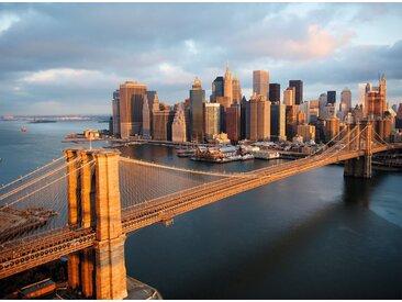 Papermoon Fototapete »Brooklyn Bridge Morning«, glatt, 4 St.