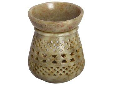 Casa Moro Duftlampe »Orientalische Duftlampe Shakir-2 aus Soapstone geschnitzt 10x10x11 cm (B/T/H) Diffusor, Teelicht-Halter für Aromatherapie
