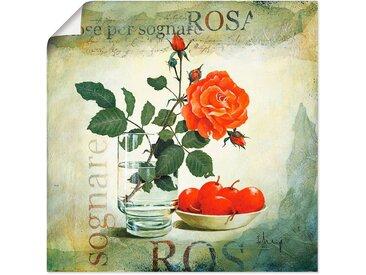 Artland Wandbild »Traumrose«, Blumen (1 Stück), Poster