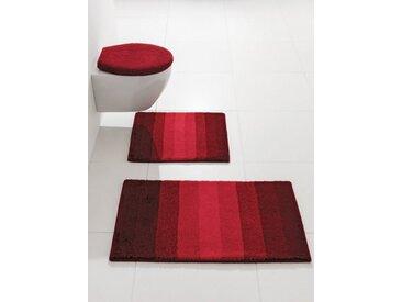 Kleine Wolke Badgarnitur PALACE im Streifen-Design, rot, weinrot