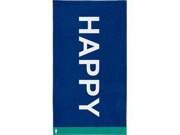 Seahorse Strandtuch »Happy« (1-St), mit Schriftzug
