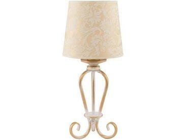 Licht-Erlebnisse Tischleuchte »GANARA Tischleuchte Stoffschirm Shabby Nachttischlampe Schlafzimmer Lampe«
