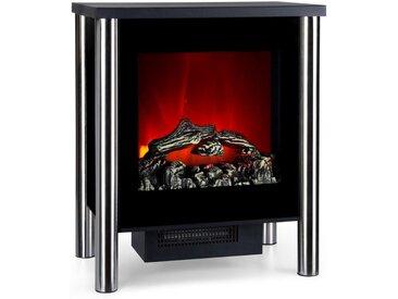 Klarstein Elektrischer Kamin 950/1900 W Thermostat LED-Flammenillusion »Copenhagen«, schwarz, schwarz