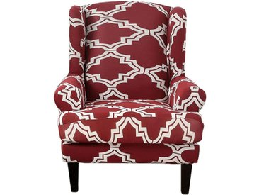TOPMELON Sofahusse, Stuhlbezug, Einsitzer, Flügel zurück Stuhl-Abdeckung, rot, Rot