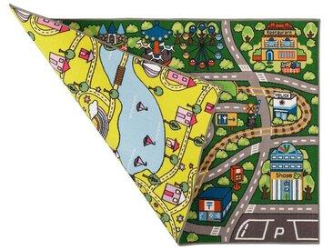 Pergamon Kinderteppich »Straßenteppich Beidseitig Fun Park«, Höhe 6 mm