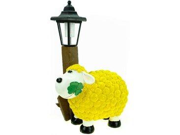 Kremers Schatzkiste Gartenfigur »Schaf Molly mit LED Solarlaterne«