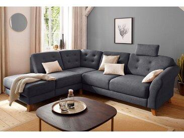 Home affaire Ecksofa »Trondheim«, mit Federkern, grau, ohne Bettfunktion, dunkel grau