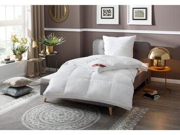 RIBECO Federbettdecke, »extra prall«, extrawarm, Füllung: 100% Federn, Bezug: 100% Baumwolle, (1-tlg), Mit über 500 positiven Kundenbewertungen!