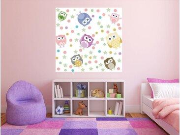 Bilderdepot24 Fototapete, Kinderbild Tiere Cartoon VII, selbstklebendes Vinyl, bunt, Kinderbild Tiere Cartoon VII, Farbig