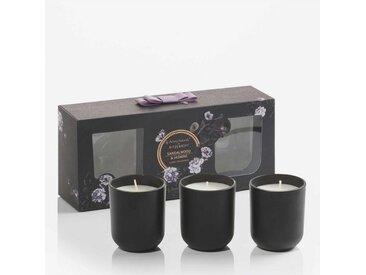 Aroma Naturals by Ritzenhoff Duftkerze »Aroma Naturals Noir 3er Set Sandalwood & Jasmine«