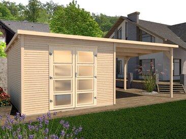 weka Gartenhaus »Line 2«, BxT: 620x277 cm, (Set), natur, naturbelassen, naturbelassen