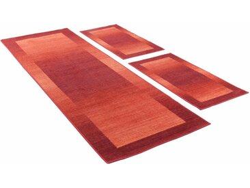THEKO Bettumrandung »Gabbeh Ideal« , höhe 6 mm, (3-tlg), getuftet, natur, rot