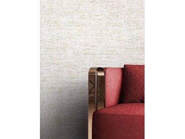 Newroom Vliestapete, Grau Tapete Uni Leicht Glänzend - Unitapete Einfarbig Creme Gold Modern Struktur für Wohnzimmer Schlafzimmer Küche, goldfarben, Leicht Glänzend
