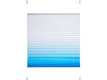 Liedeco Plissee »Farbverlauf«, Lichtschutz, ohne Bohren, verspannt, blau, azur