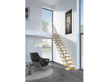 Dolle Systemtreppe »Dublin«, grau, Multiplexholz, gerade, grau