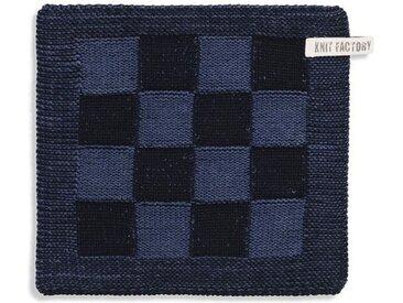 Knit Factory Tischdecke »Topflappen Block Schwarz/Jeans«
