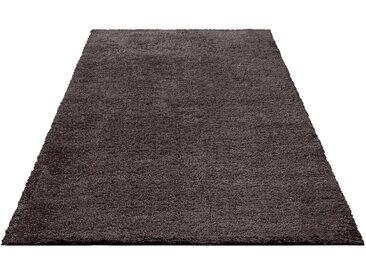Bruno Banani Hochflor-Teppich »Shaggy Soft«, rechteckig, Höhe 30 mm, braun, rubber
