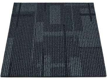 casa pura Teppichfliese »Andorra«, Quadratisch, Höhe 6 mm, Selbstliegend, schwarz, Anthrazit 04