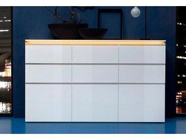 Tecnos Highboard »Magic«, Breite 180 cm, weiß, weiß Hochglanz