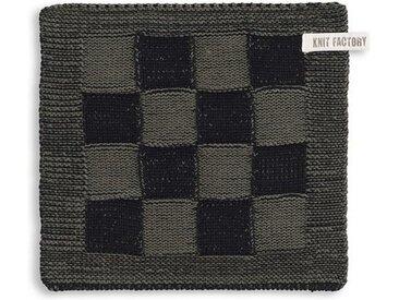 Knit Factory Tischdecke »Topflappen Block Schwarz/Khaki«