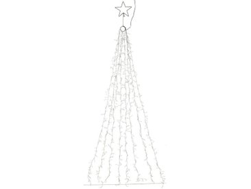 LED-Lichtervorhang, 660-flammig, mit Stern und 8 Cluster-Strängen mit je 80 LEDs