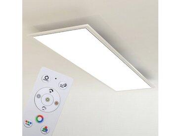Briloner Leuchten LED Panel »Panos«, Deckenlampe 119,5cm CCT, RGB, Nachtlicht, Timer