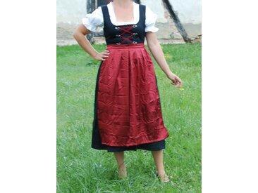 Scherzwelt Kostüm »Dirndl lang mit Bluse und roter Schürze - Oktoberfest - Tracht«