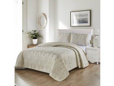 ZELLERFELD Tagesdecke »3-Teilige Tagedecke mit schönem Design Bettdecke Doppelbett Kopfkissen Polyester Decke 220 x 240 cn in Weiß/Pink/Grau«, weiß