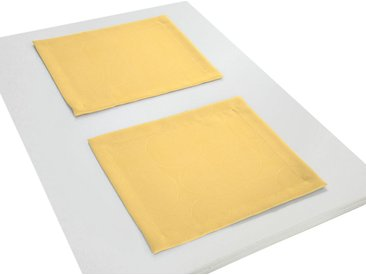 Wirth Platzset, »Neufahrn«, (Packung, 2-St), gelb, gelb